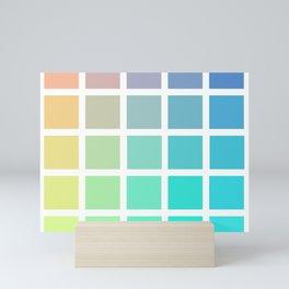 Bright Colour Palette Mini Art Print