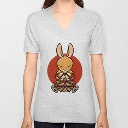 Rope Bunny Unisex V-Neck