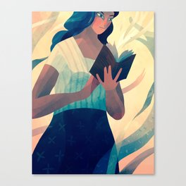 Reading a Book Canvas Print