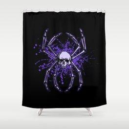 Web and Bone Shower Curtain