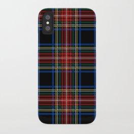 Minimalist Black Stewart Tartan iPhone Case