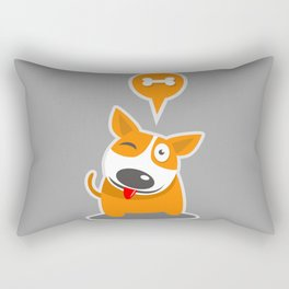 Funny dog Rectangular Pillow
