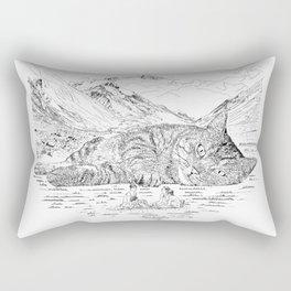Giant Cat Go On A Picnic Rectangular Pillow