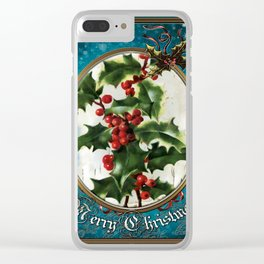Christmas Vintage 116 Clear iPhone Case