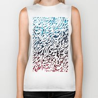 arabic Biker Tanks featuring Arabic Typography by Sarah Sallam