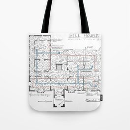 Haunting of Hill House Blueprint Tote Bag