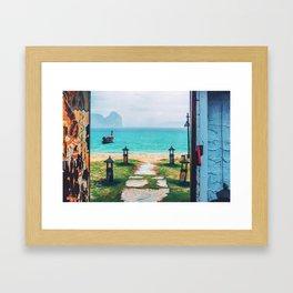 Doors to paradise Framed Art Print