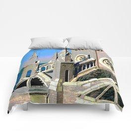 Church Overlooking the Ocean Comforters