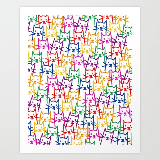 CATtern Art Print