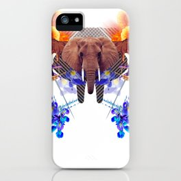 Sacred Elephant Laughs at Colicky Mariners During the Game iPhone Case