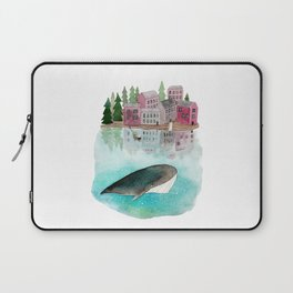 A whale is passing by Laptop Sleeve