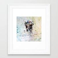 cassette Framed Art Prints featuring cassette by Vladimir  Serov