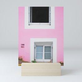 50. The Pink Wall, Bretagne, France Mini Art Print