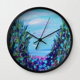 Ocean Abstract, Modern Art, Seascape, Blue abstract Wall Clock