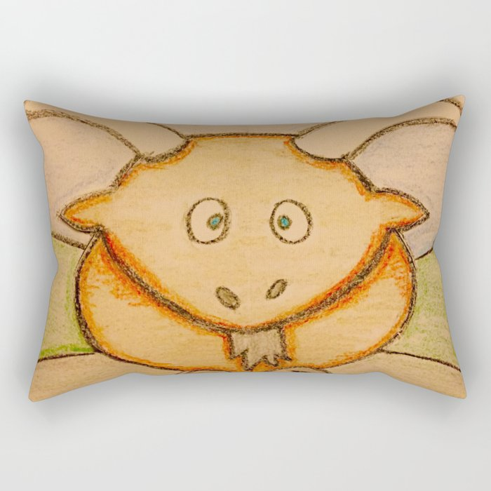 Billy the goat Rectangular Pillow