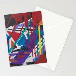 Abstract Acrylic Painting Stationery Cards