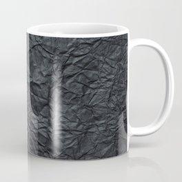 Abstract modern black gray creased paper texture Coffee Mug
