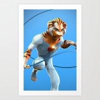 thundercats Art Prints featuring Thundercats by Dante RD
