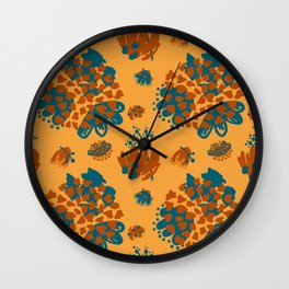 Bold minimal color pallet Wall Clock