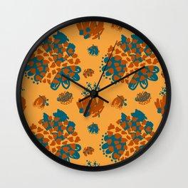 Bold minimal color pallet Wall Clock