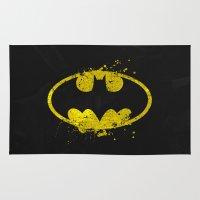 batgirl Area & Throw Rugs featuring Bat man's Splash by Sitchko Igor