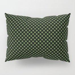 Black and Treetop Polka Dots Pillow Sham