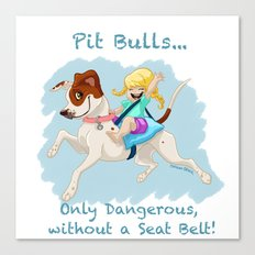 Pit Bulls... Canvas Print