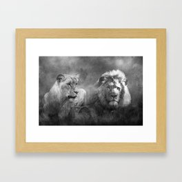 Lion's Pride Framed Art Print