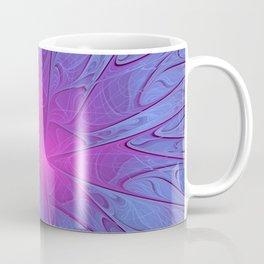 Pink Purple Abstract Flowers Coffee Mug