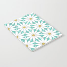 Daisy Hex - Turquoise Notebook