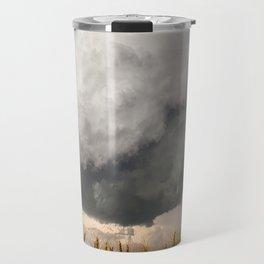 Marshmallow - Storm Cloud Over Golden Wheat in Kansas Travel Mug