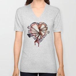 Shattered heart Unisex V-Neck