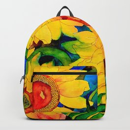 Golden Sunflowers Backpack