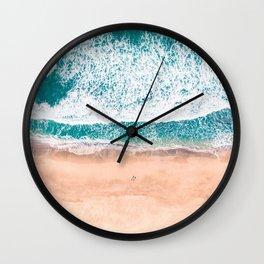 Faded ocean life Wall Clock