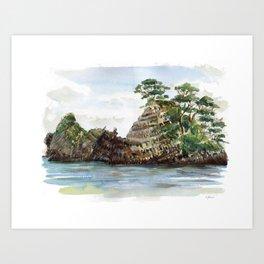 Whangapoua island , Coromandel peninsula , New Zealand Art Print