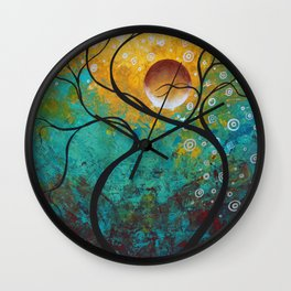 """Abstract Landscape Tree Painting """"Klimit Inspired"""" Art by Megan Duncanson MADART Wall Clock"""