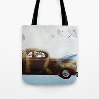 drive Tote Bags featuring DRIVE by Jerzy Jachym