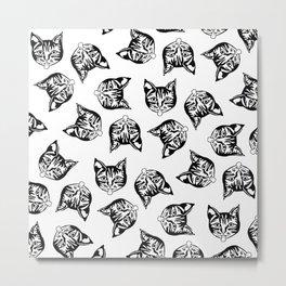 Black Mollycats Metal Print