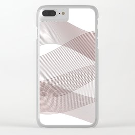 Wine vibes Clear iPhone Case
