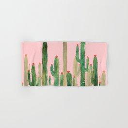 Cactus Four on Pink Hand & Bath Towel