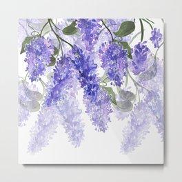 Purple Wisteria Flowers Metal Print