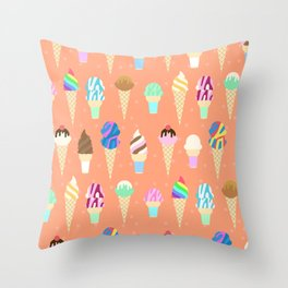 Stardust Sorbet Throw Pillow