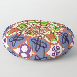 Floral Mandala Doodle #procreate #society6 #buyart Floor Pillow