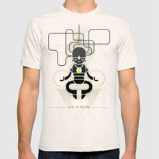 Deus ex machina Mens Fitted Tee Natural SMALL