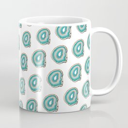 Teal Agate Print Coffee Mug