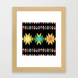 Folk black Framed Art Print