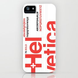 Helvetica iPhone Case