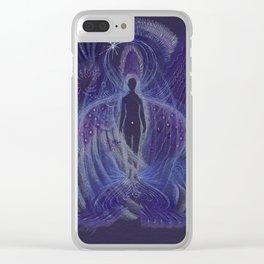 Dream Night Angel Clear iPhone Case