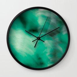 Green so Green Wall Clock