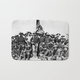 Teddy Roosevelt And The Rough Riders Bath Mat